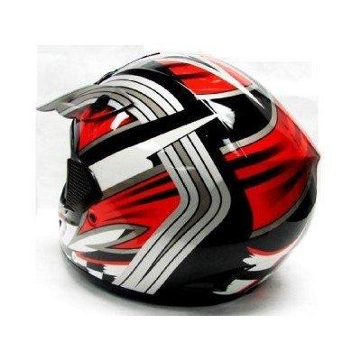 Amazon.es: TMS - Casco de motocross, ATV o motocicleta, color rojo, negro