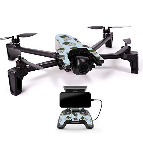 MightySkins Skin for Parrot Anafi Drone - Game Kid Tile | Protective, Durable, and Unique Vinyl Decal wrap Cover | Easy to Apply, Remove, and Change Styles | Made in The USA