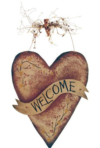 - Ohio Wholesale Star Garland Heart Welcome Wall Art, from our Everyday Collection
