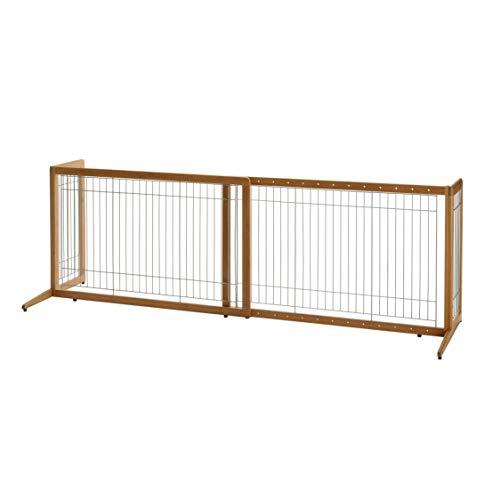 Richell Bamboo Freestanding Pet Gate, Dog Gate
