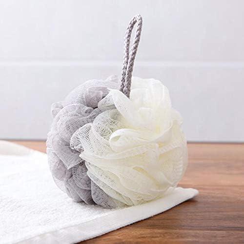 Fattonny Sch/äumendes Bad Reiben Bad K/örper Mesh Ball Dusche Ball Badezimmer Personal Clean Tool Grau Wei/ß