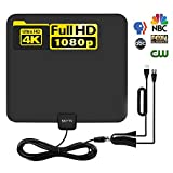TV Antenna-Indoor Digital HDTV Antennas Amplified 60-70Mile Range 4K HD VHF UHF Freeview for Life Local Channels and Programming for All Type of Television