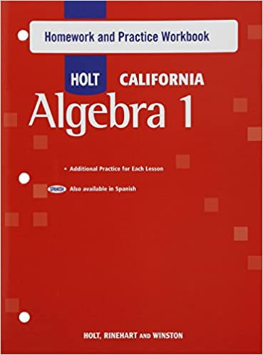 Amazon holt algebra 1 california homework and practice holt algebra 1 california homework and practice workbook algebra 1 1st edition fandeluxe Image collections