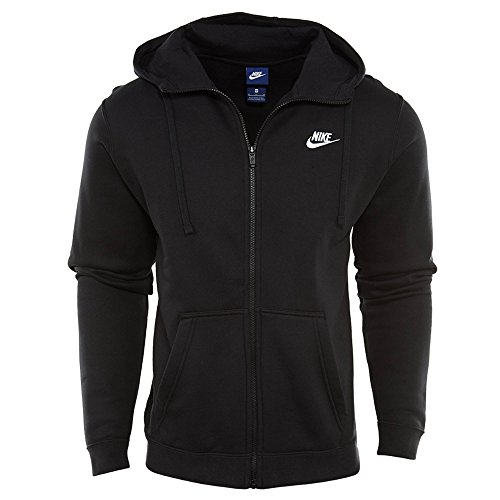 Men's Nike Sportswear Hoodie Black/White Size Medium