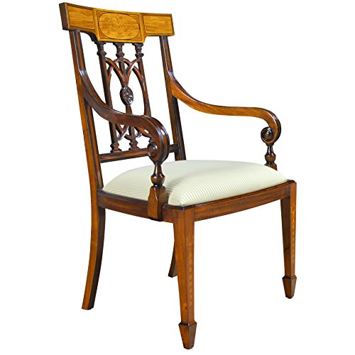 Niagara Furniture Side Chairs for Living Room Complete with Set of 2 Mahogany Wood Chairs by Niagara Furniture NDRAC031