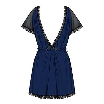 a420b5ad1d Amocarat SA Obsessive Smooth Lace Robe String 825-PEI-6  Amazon.co.uk   Clothing