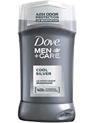 Dove Men +Care Non-Irritant Deodorant, Cool Silver - 3 oz ( Pack 2)