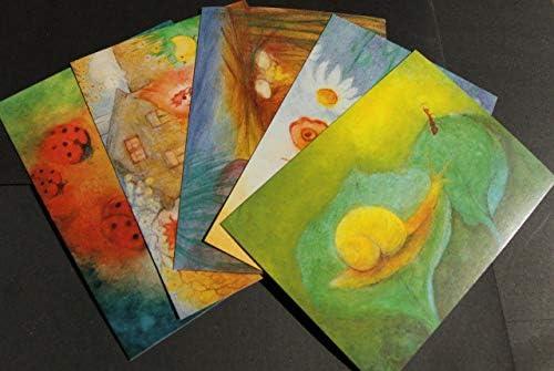 5 gekleurde kinderansichtkaarten