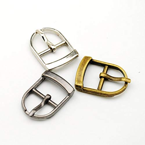 Buckes - Wholesale 25pcs/lot Small Metal 15mm Shoe Buckle with pin high Polished Nickle/Black Nickle Buckle BK-004 - (Size: Mixed Color) from Lysee