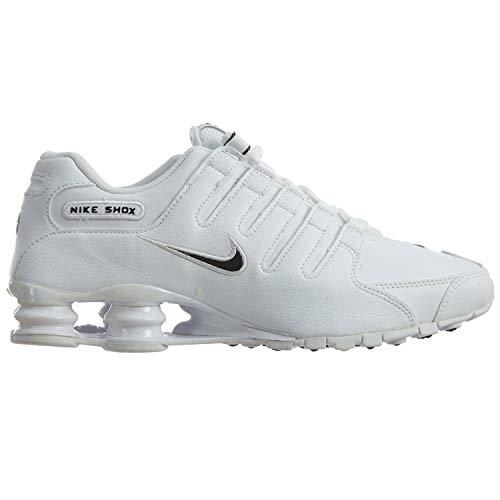 Nike Men's Shox NZ Running Shoe White / Black - White - 10.5 D(M) US