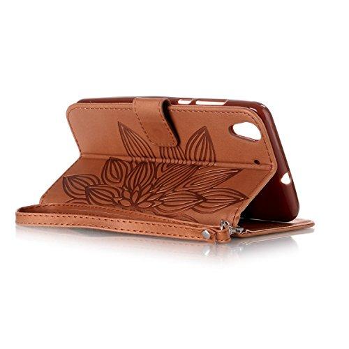 Funda Huawei Y6II , Carcasa Plegable para Huawei Honor 5A, Funda de cuero Huawei Honor 5A, Lifetrut Sólido Shiny Sparkle libro de estilo funda de cuero con ranura para tarjetas de cierre magnético sop E213-Flor en marrón