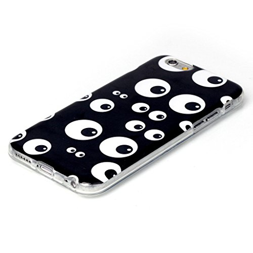 PowerQ Bunte Muster Serie Malerei Zeichnung Colorful Pattern TPU Fall Case Hülle < Many black eye | für IPhone6SPlus IPhone 6SPlus 6Plus IPhone6Plus >           weiche TPU Abdeckung Handy-Fall Handy-Abdeckung H