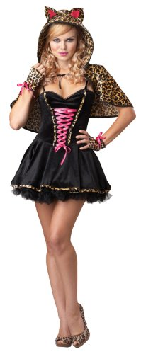 California Costumes Women's Eye Candy - Frisky Kitty Adult, Black/Tan, X-Small