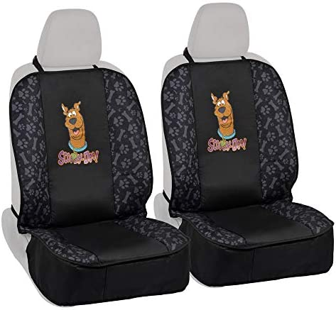 BDK Scooby-Doo Front Pet Seat Cover for Car SUV Truck – 100 Waterproof Protection, Double Padded, Front Treat Pocket, Dog Cat Friendly 2PC