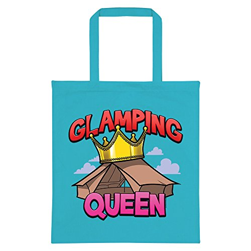 RealSlickTees Blue Glamping RealSlickTees Bag Azure Queen Tote Glamping UxrfSwqTU