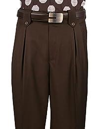 Mens Wide Leg Pants Wool Col. Brown art.5551041