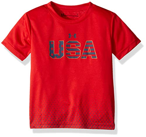 - Under Armour Boys' Little Graphic SS Tee Shirt, Red-S192, 7