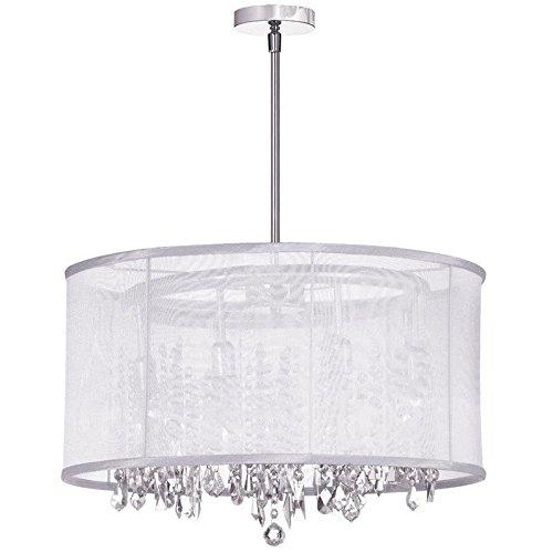 8 Light Contemporary Chandelier (Dainolite Lighting 85302-PC-119 8 Light Crystal Chandelier)
