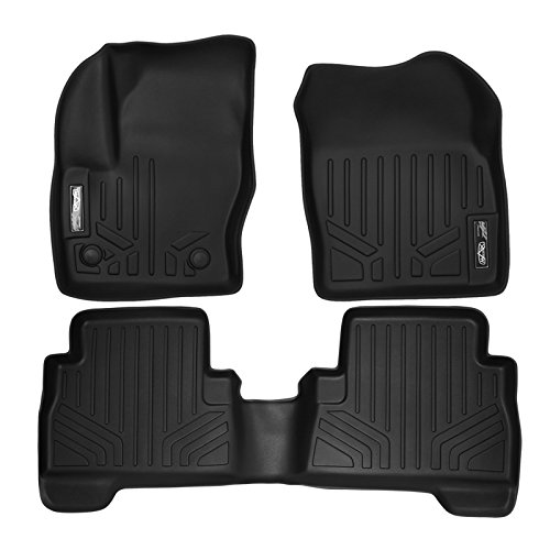 MAX LINER A0115/B0115 Custom Fit Floor Mats 2 Row Liner Set Black for 2013-2019 Ford -