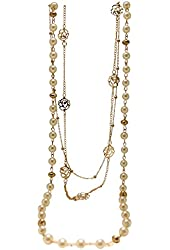 Fashion Multi Layer Necklace Created Pearl, Flower Design