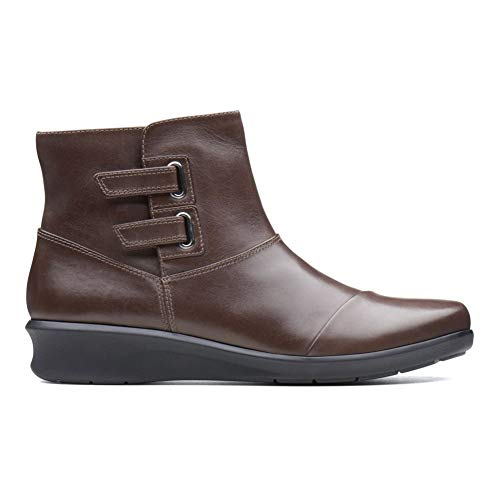 CLARKS Women's Hope Cody Fashion Boot, Brown Leather, 090 M US (Best Brown Leather Boots)