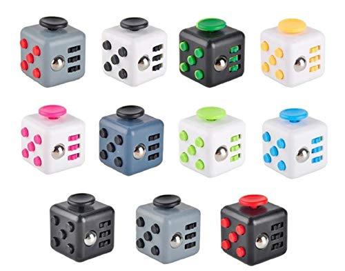 Lot de 12 - Cube anti stress fidget cube 3.8cm - Qualité COOLMINIPRIX®
