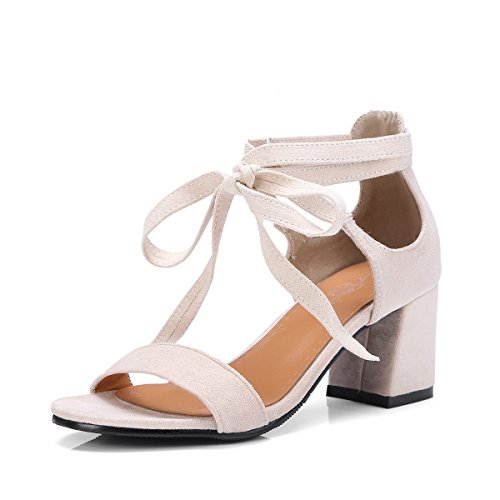 Summer coarse grit size with high-heel strap exposed female sandals Meter white