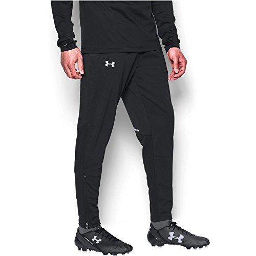 Soccer Warm Up Pants (Under Armour Men's Challenger Knit Warm-Up Pants, Black/White, Large)