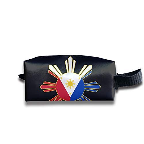 WAY.MAY Filipino Flag Storage Bag Tote-Handbags Cosmetic Pouch Portable Travel Makeup Tote Bag Pen Case Bag Space Saver Bags Medicine Package Sewing Kit - Filipino Tote Bag