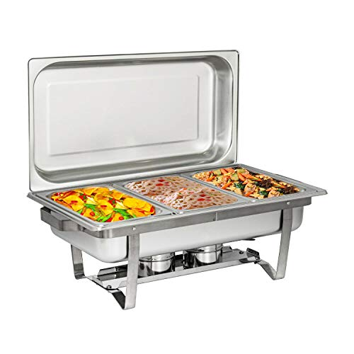 TG888 Professional Stainless Steel Chafing Dish Full Size Buffet Catering Tray 3L / 3.2QT Party Food Service from TG888Warehouse