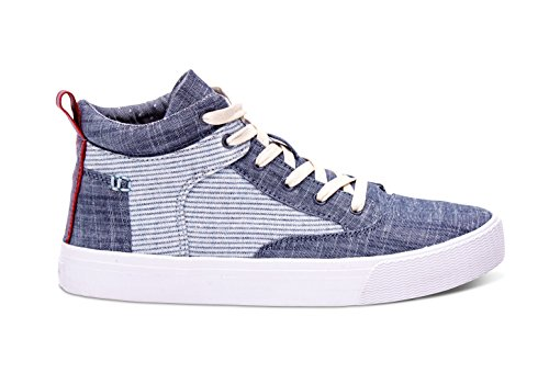 Toms Camila High Sneakers Chambray Stripe 10007908 Womens 6 leze9TMJx8