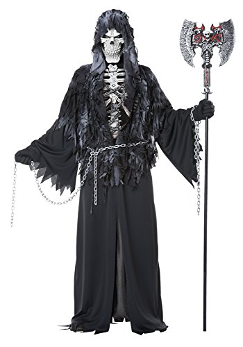 California Costumes Men's Evil Unchained Scary Ghost Demon Skeleton Grim Reaper, Black, Large/X-Large Demon Skeleton