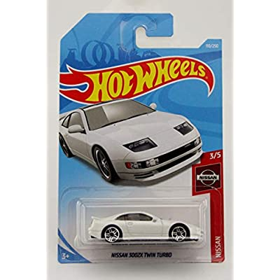 Hot Wheels Nissan 300ZX Twin Turbo / White on International Card: Toys & Games
