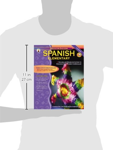 Spanish, Grades K - 5: Elementary (Skills for Success) by Carson-Dellosa Publishing (Image #1)