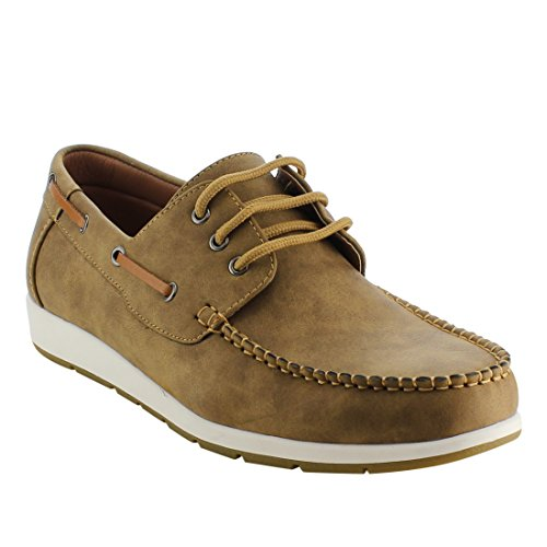 Arider AG63 Men's Moc Toe Boat Shoes Lace up Casual Oxfords ()