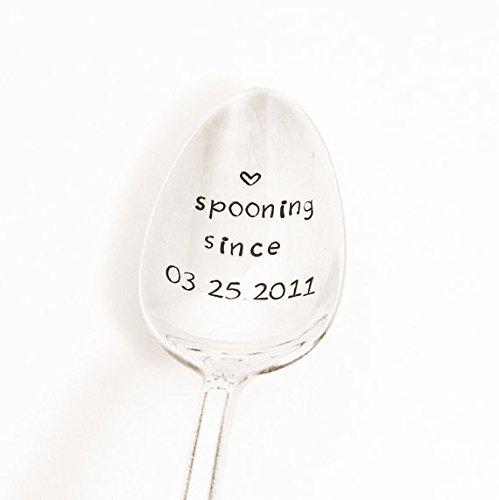 Personalized Spooning Spoon Hand Stamped Spoon Custom Silverware