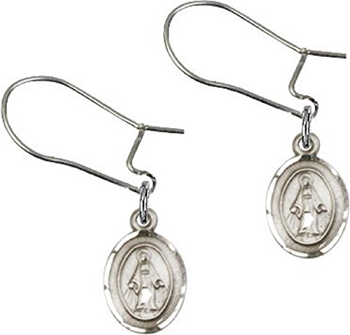 Miraculous Medal Earrings (Catholic Womens or Girls Miraculous Medal Dangle Earrings ……)