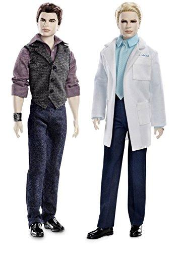 Twilight Emmett & Carlisle Vampire Cullen Boys Collector Set Barbie Pink Label Toy Doll Figure Collectible Movie Merchandise