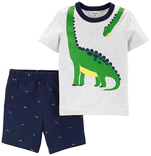 (Carter's 2-Piece Dinosaur Tee & Schiffli Short Set (18 Months) )