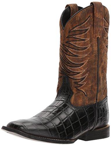 Kids' Baby Firecatcher Western Cowboy Boot, Black Caiman Print/Dark Marble, 9.5 M US Toddler