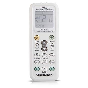 Mando a Distancia Control Remoto LCD Universal Aire Acondicionado Blanco Gris