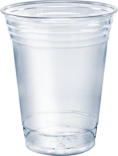 SOLO Cup Company Plastic Party Cold Cups, 16 oz, Clear, 100 pack - 16 Ounce Cold Cups