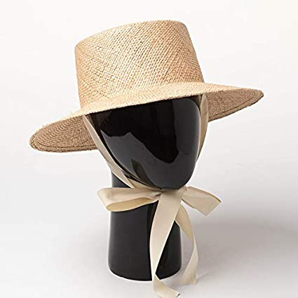 f714a08a8ae46 Amazon.com   ALWLj Straw Hat with Ribbon Tie Vintage Women Summer ...