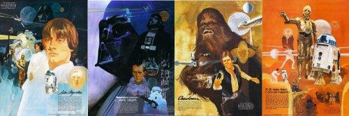 Original 1977 Star Wars Posters - Set of 4 - Burger Chef, Coca Cola