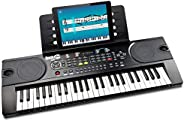 RockJam (RJ549) 49-Key Portable Electric Keyboard Piano With Power Supply, Sheet Music Stand and Simply Piano