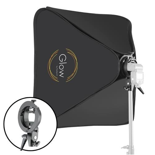 Glow 31 x 31 Quick Softbox with Shoe Mount S-Type Flash Bracket (80x80cm) by Glow