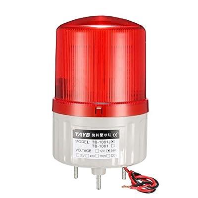 uxcell LED Warning Light Bulb Rotating Flashing Industrial Signal Alarm Lamp Red