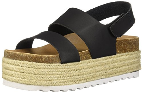 Dirty Laundry by Chinese Laundry Women's Peyton Espadrille Wedge Sandal, Black Smooth, 8.5 M US