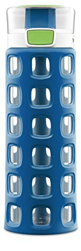 Ello Dash BPA-Free Tritan Water Bottle with Silicone Sleeve, Touch Down Blue, 20 Oz