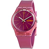 Swatch Archi-Mix Sneaky Peaky Purple Dial Silicone Strap Ladies Watch GP701